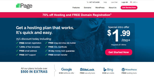 ipage-hosting-small-websites
